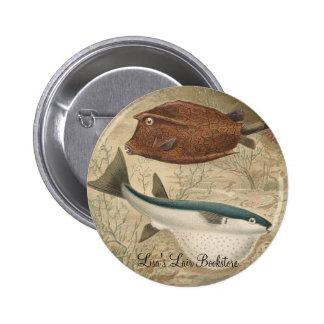 Globe Fish & Coffer Fish Bookstore Promo Button