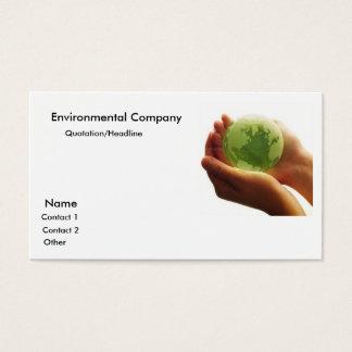 globe-green-hand_world, Environmental Company, ... Business Card