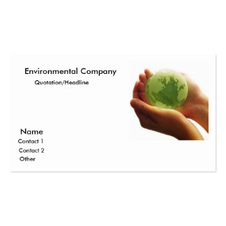 globe-green-hand_world Environmental Company … Tarjeta De Visita