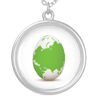 globe green white egg shaped with shadow.png silver plated necklace