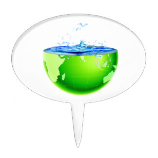 globe half with water splash earth design.png cake toppers