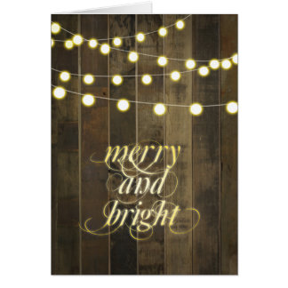 Globe Hanging String Lights Merry and Bright Card