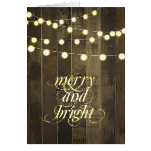 Zazzle String Lights : Globe Hanging String Lights Merry and Bright Card Zazzle