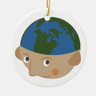 Globe Head Ceramic Ornament