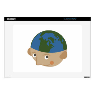 Globe Head Decal For Laptop