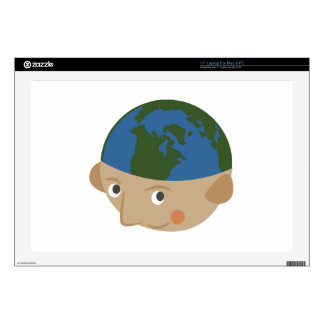 Globe Head Decals For Laptops
