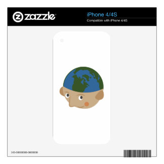 Globe Head Decals For The iPhone 4