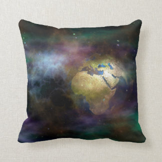 Globe in Space Throw Pillow