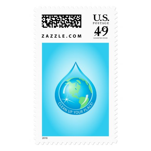 Globe In waterdrop Postage Stamp