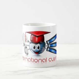 Globe international cuisine classic white coffee mug