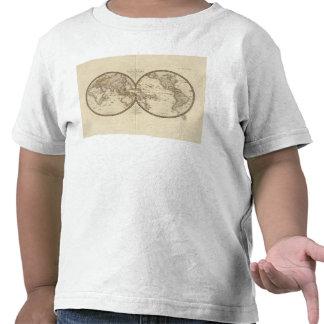 Globe into two hemispheres tshirts