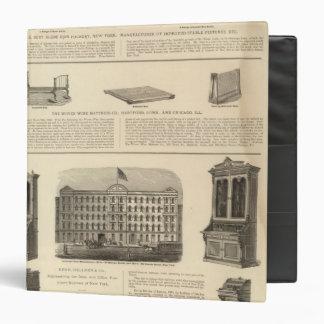 Globe Iron Foundry Woven Wire Mattress Company Vinyl Binder