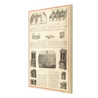 Globe Iron Foundry Woven Wire Mattress Company Impresión En Lienzo Estirada