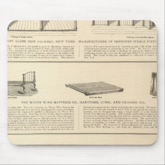Globe Iron Foundry Woven Wire Mattress Company Mouse Pad