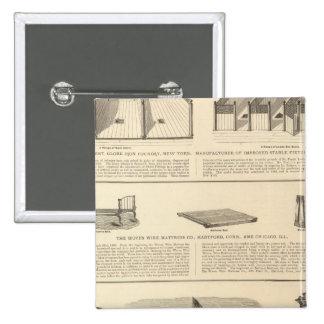 Globe Iron Foundry Woven Wire Mattress Company Pin