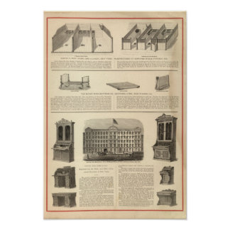 Globe Iron Foundry Woven Wire Mattress Company Poster