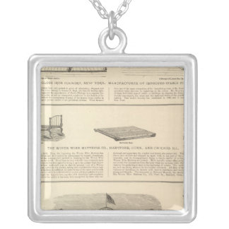 Globe Iron Foundry Woven Wire Mattress Company Silver Plated Necklace