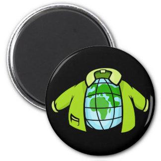 Globe Jacket 2 Inch Round Magnet