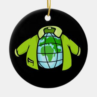 Globe Jacket Ceramic Ornament