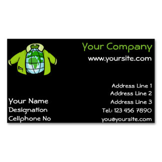 Globe Jacket Magnetic Business Card