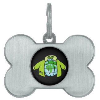 Globe Jacket Pet ID Tag