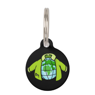 Globe Jacket Pet Name Tag