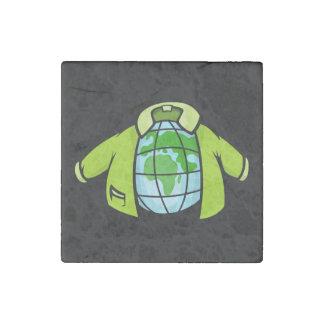 Globe Jacket Stone Magnet