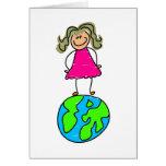 Globe Kid Greeting Card