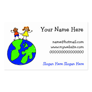 Globe Kids Double-Sided Standard Business Cards (Pack Of 100)