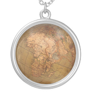 Globe Necklase Silver Plated Necklace