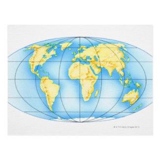 Globe of the World Postcard
