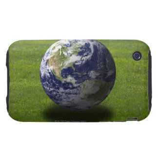 Globe on lawn 4 iPhone 3 tough cases