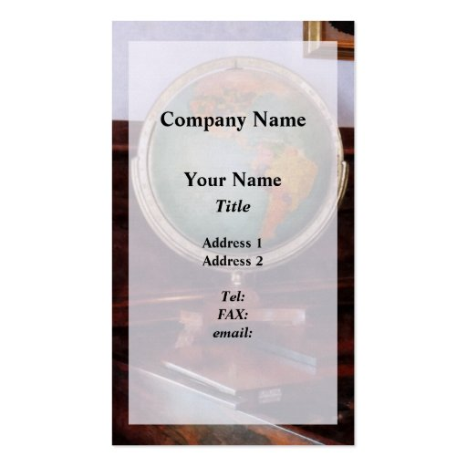 Globe on Piano Double-Sided Standard Business Cards (Pack Of 100)