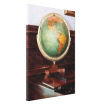 Globe on Piano Canvas Print