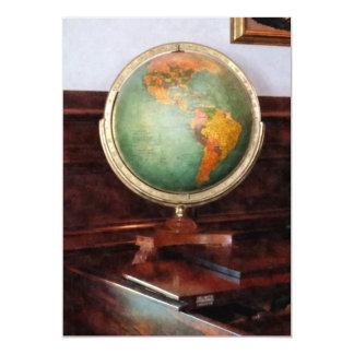 Globe on Piano Card