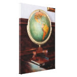 Globe on Piano Gallery Wrapped Canvas