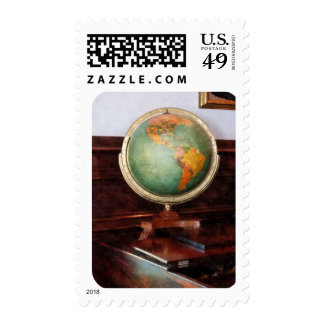 Globe on Piano Postage Stamps