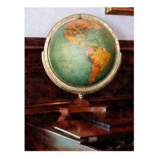 Globe on Piano Postcard