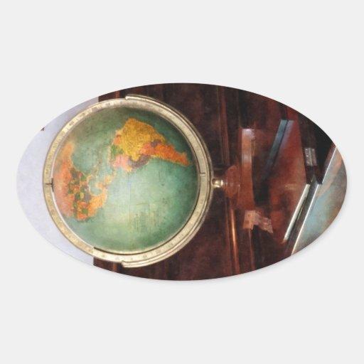 Globe on Piano Sticker