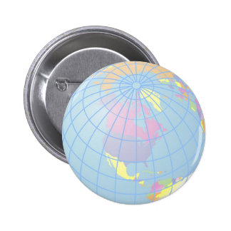 Globe Pinback Button