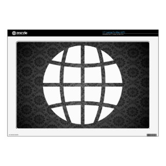 "Globe Pollutions Symbol Decal For 17"" Laptop"