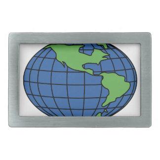 Globe Rectangular Belt Buckle