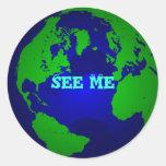 globe, See Me Sticker