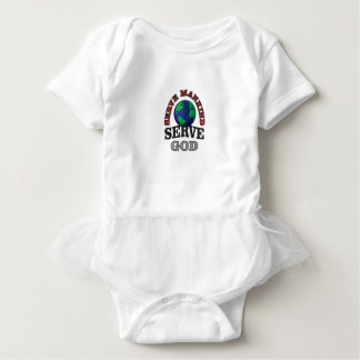 globe serve god and mankind baby bodysuit