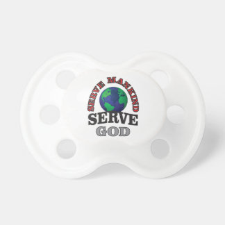 globe serve god and mankind pacifier