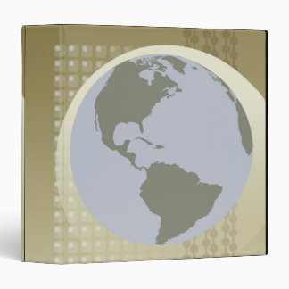 Globe Showing Americas Binder