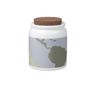 Globe Showing Americas Candy Dish