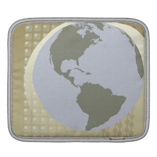 Globe Showing Americas iPad Sleeve