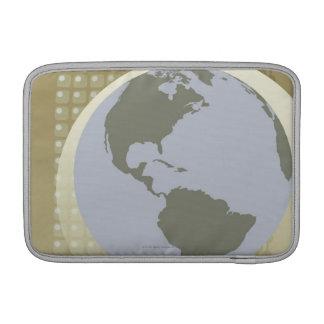 Globe Showing Americas MacBook Sleeve