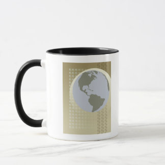 Globe Showing Americas Mug